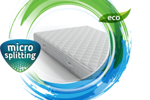 Mattress surface micro-splitting cleaning